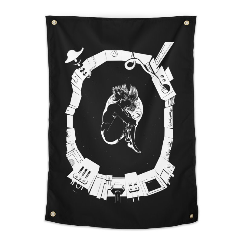 Alone in space Home Tapestry by juliusllopis's Artist Shop