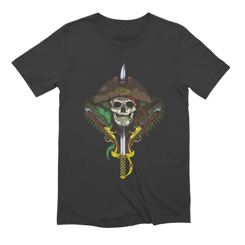 Pirate skull Men's Extra Soft T-Shirt by juliusllopis's Artist Shop