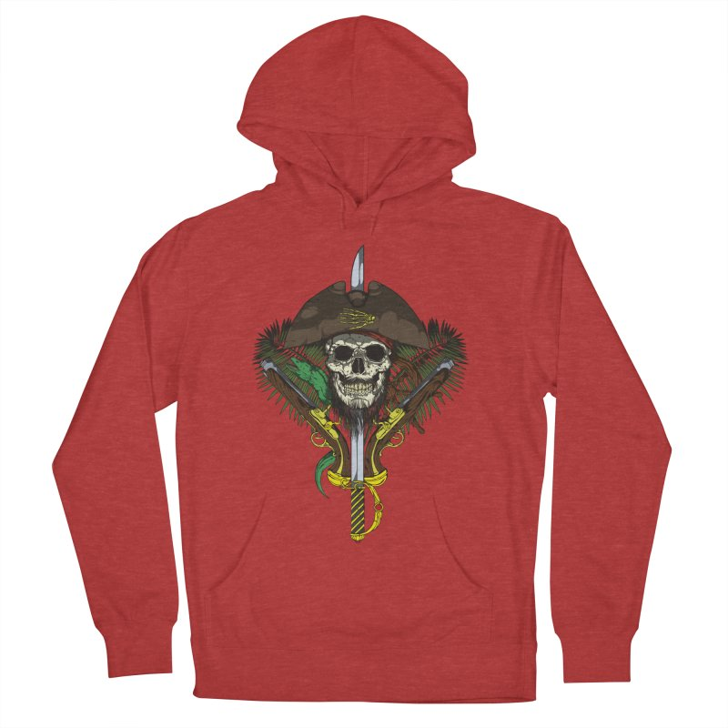 Pirate skull Women's French Terry Pullover Hoody by juliusllopis's Artist Shop