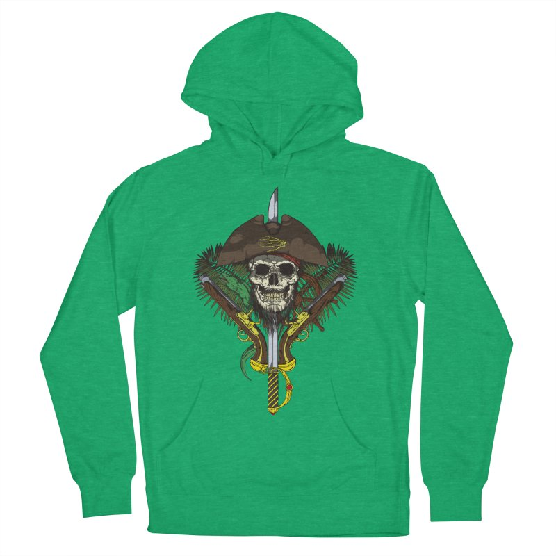 Pirate skull Men's French Terry Pullover Hoody by juliusllopis's Artist Shop