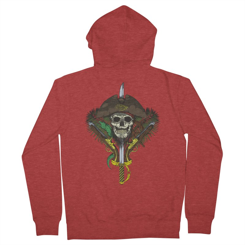 Pirate skull Women's Zip-Up Hoody by juliusllopis's Artist Shop