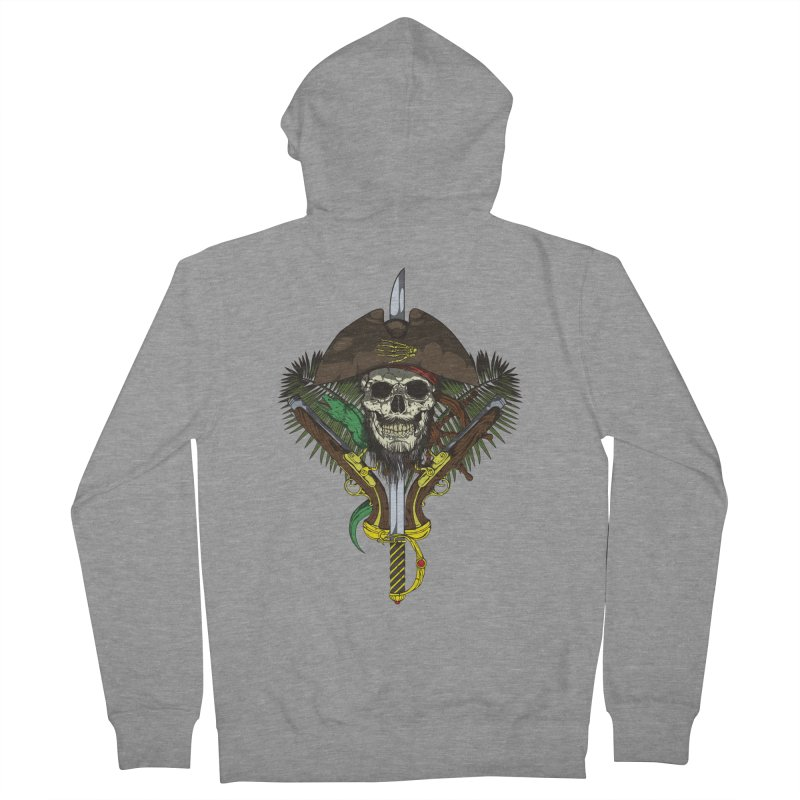 Pirate skull Men's Zip-Up Hoody by juliusllopis's Artist Shop