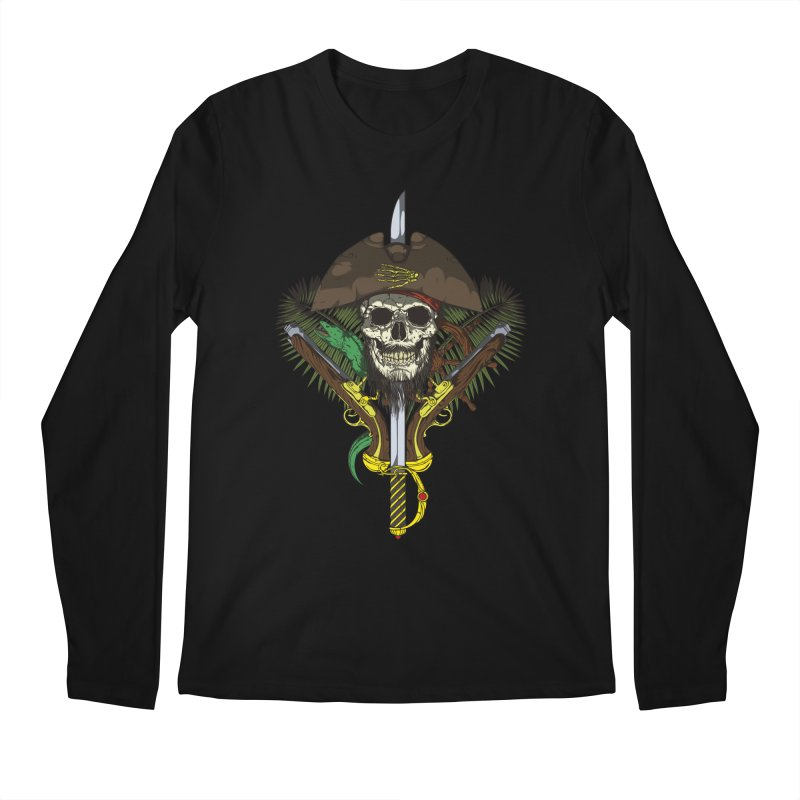 Pirate skull Men's Regular Longsleeve T-Shirt by juliusllopis's Artist Shop