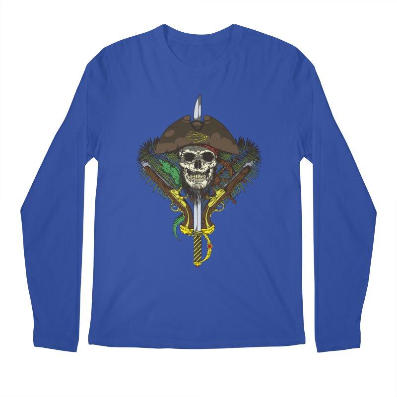 Pirate skull Men's Regular Longsleeve T-Shirt by juliusllopis's Artist Shop