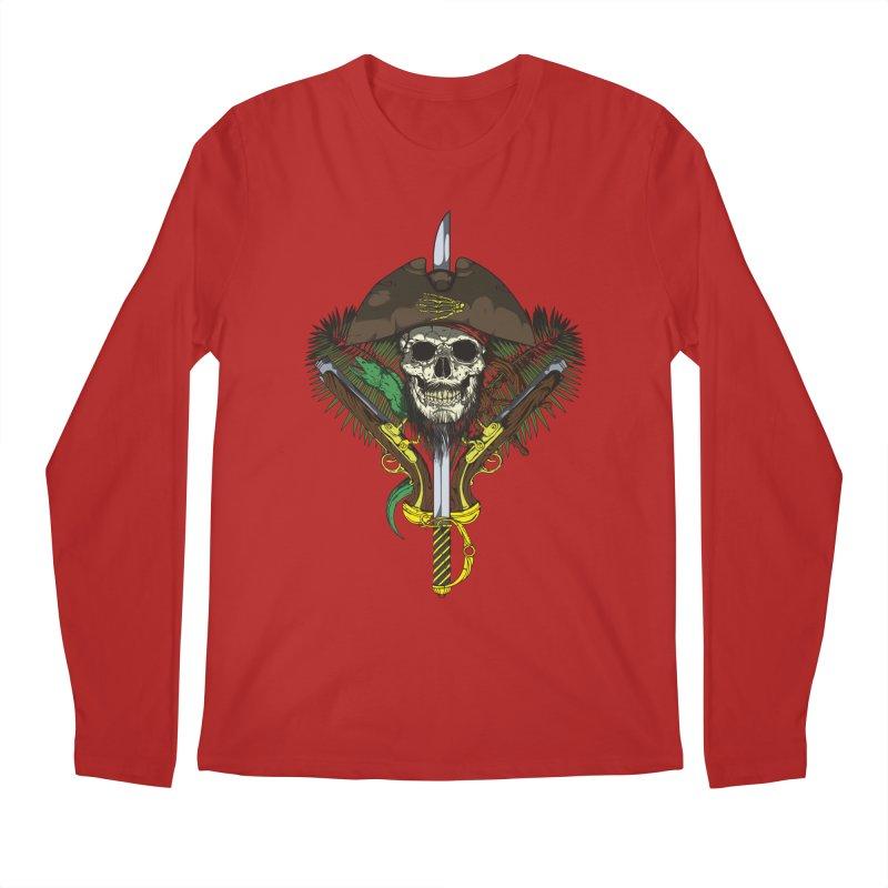 Pirate skull Men's Longsleeve T-Shirt by juliusllopis's Artist Shop
