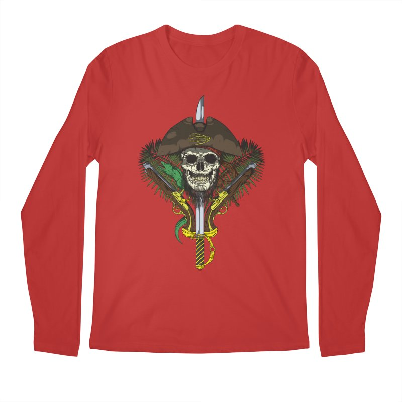 Pirate skull Men's Longsleeve T-Shirt by juliusllopis's Artist Shop