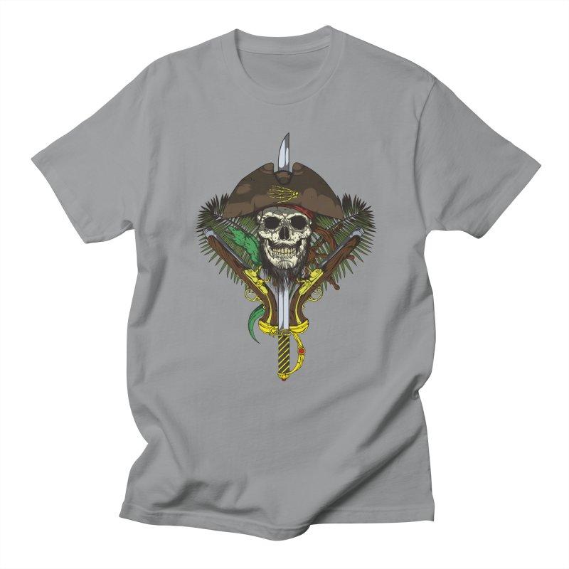 Pirate skull Men's T-Shirt by juliusllopis's Artist Shop