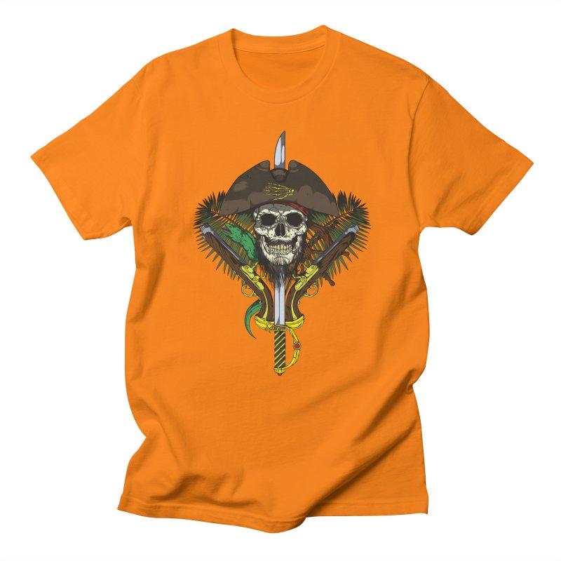 Pirate skull Men's Regular T-Shirt by juliusllopis's Artist Shop