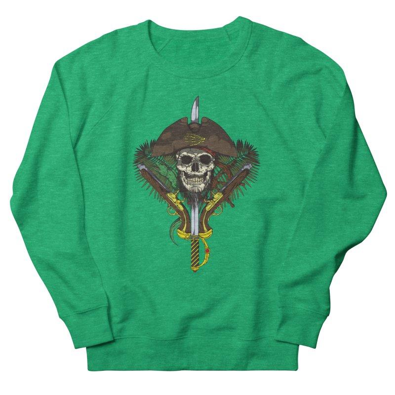 Pirate skull Women's French Terry Sweatshirt by juliusllopis's Artist Shop