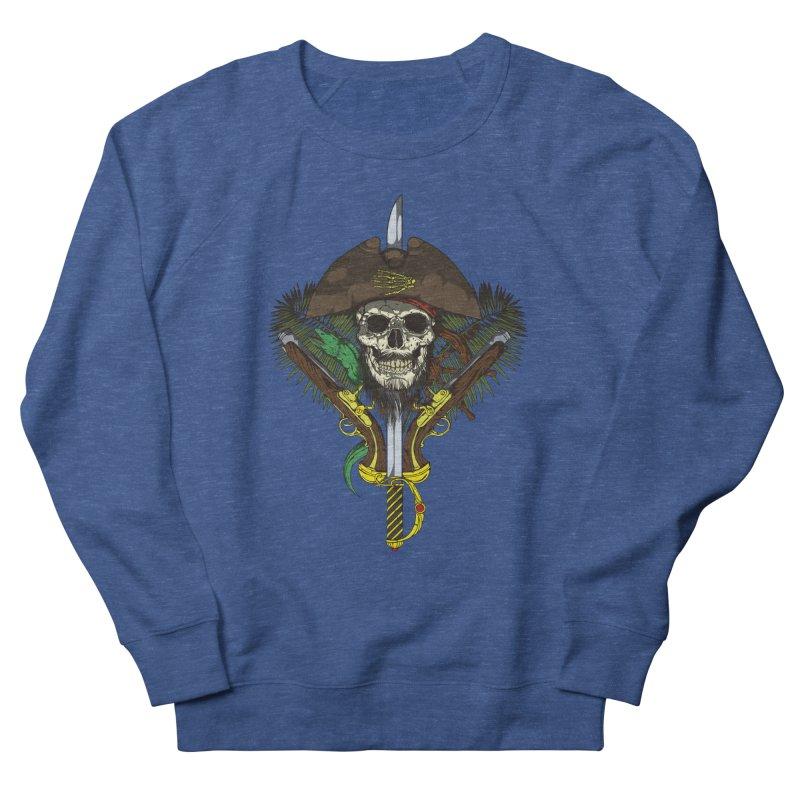 Pirate skull Men's French Terry Sweatshirt by juliusllopis's Artist Shop