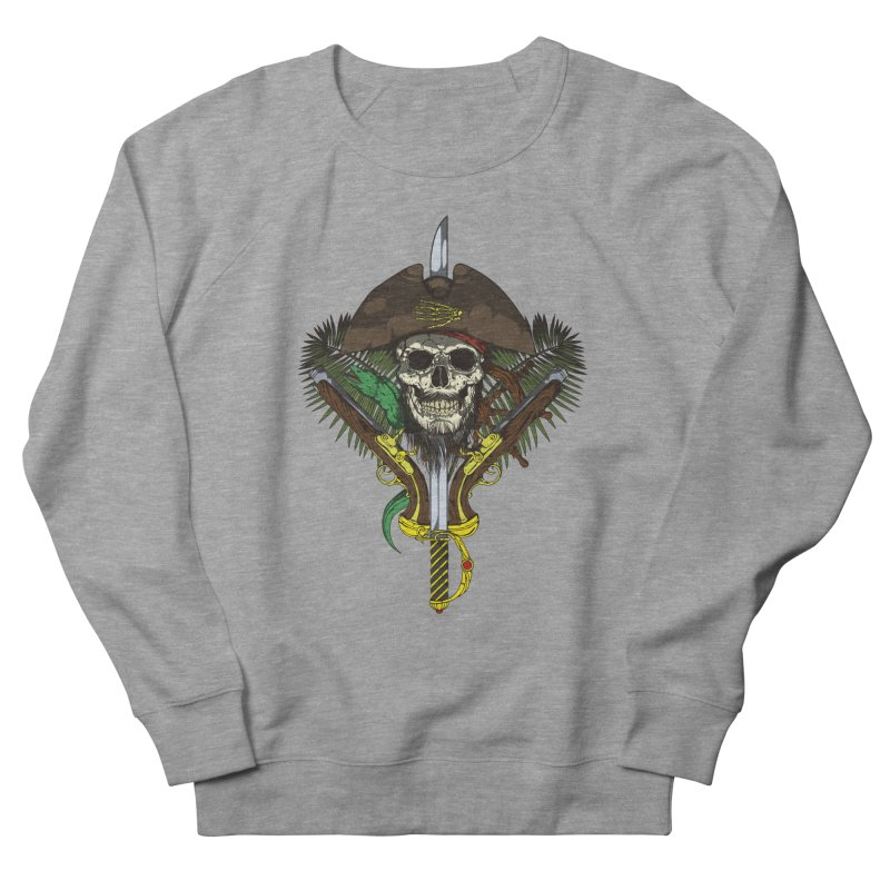 Pirate skull Men's French Terry Sweatshirt by juliusllopis's Artist Shop