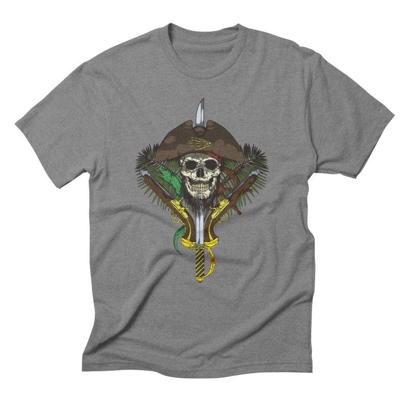 Pirate skull Men's Triblend T-Shirt by juliusllopis's Artist Shop