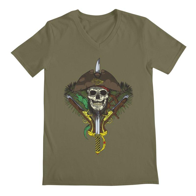 Pirate skull Men's V-Neck by juliusllopis's Artist Shop