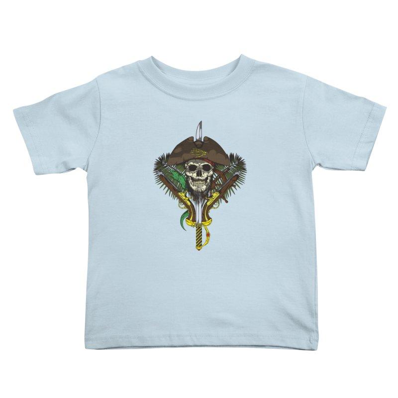 Pirate skull Kids Toddler T-Shirt by juliusllopis's Artist Shop