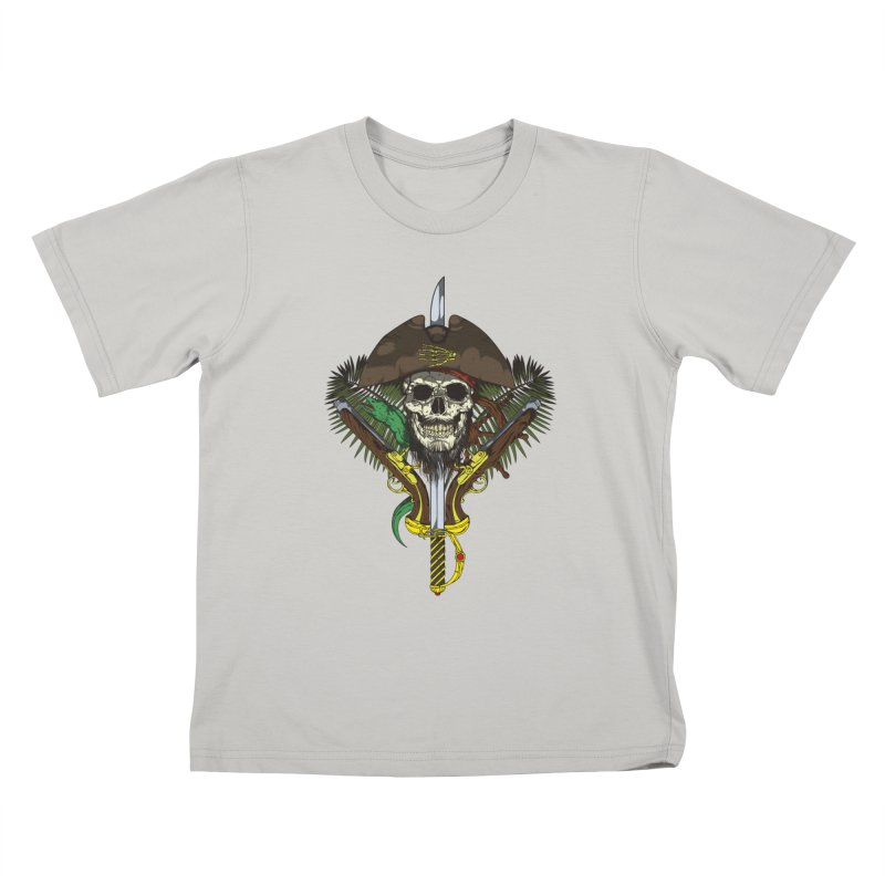 Pirate skull Kids T-Shirt by juliusllopis's Artist Shop