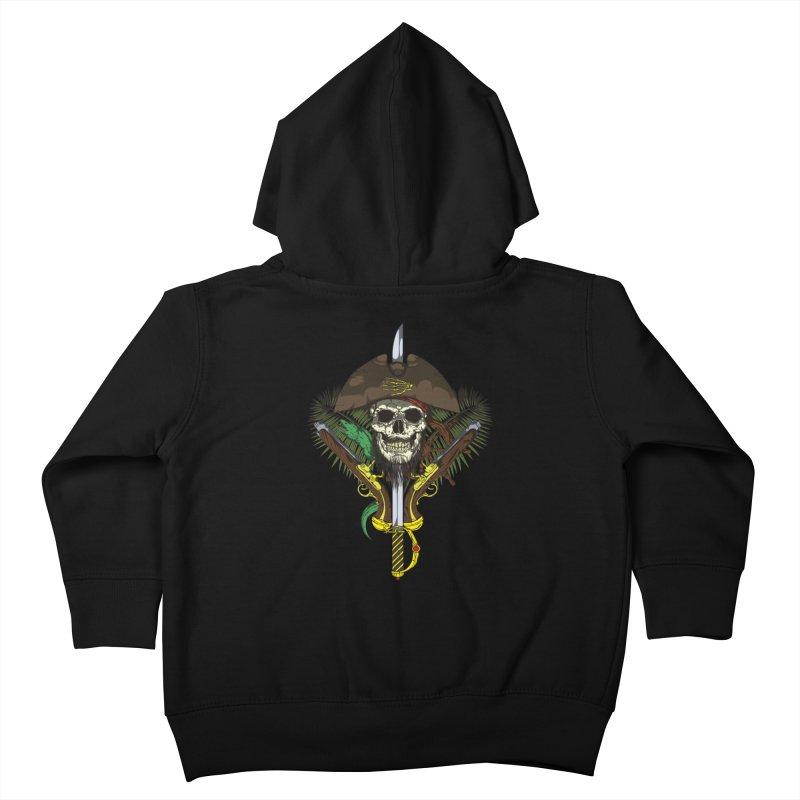 Pirate skull Kids Toddler Zip-Up Hoody by juliusllopis's Artist Shop