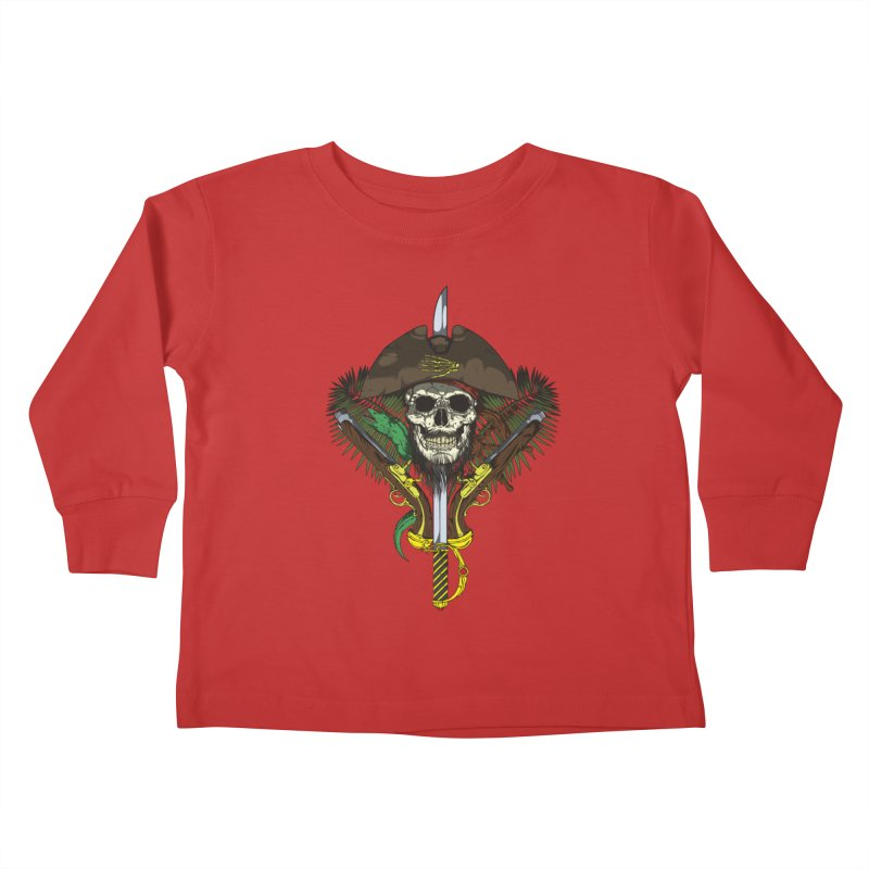 Pirate skull Kids Toddler Longsleeve T-Shirt by juliusllopis's Artist Shop