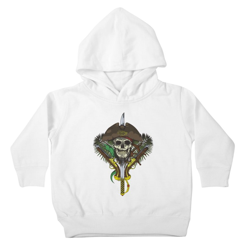 Pirate skull Kids Toddler Pullover Hoody by juliusllopis's Artist Shop