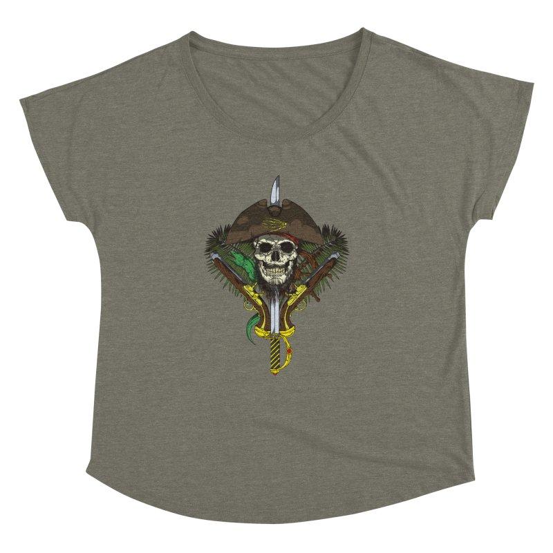 Pirate skull Women's Dolman Scoop Neck by juliusllopis's Artist Shop
