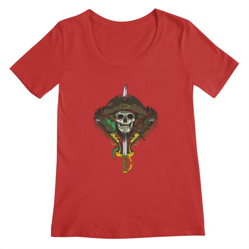 Pirate skull Women's Scoopneck by juliusllopis's Artist Shop