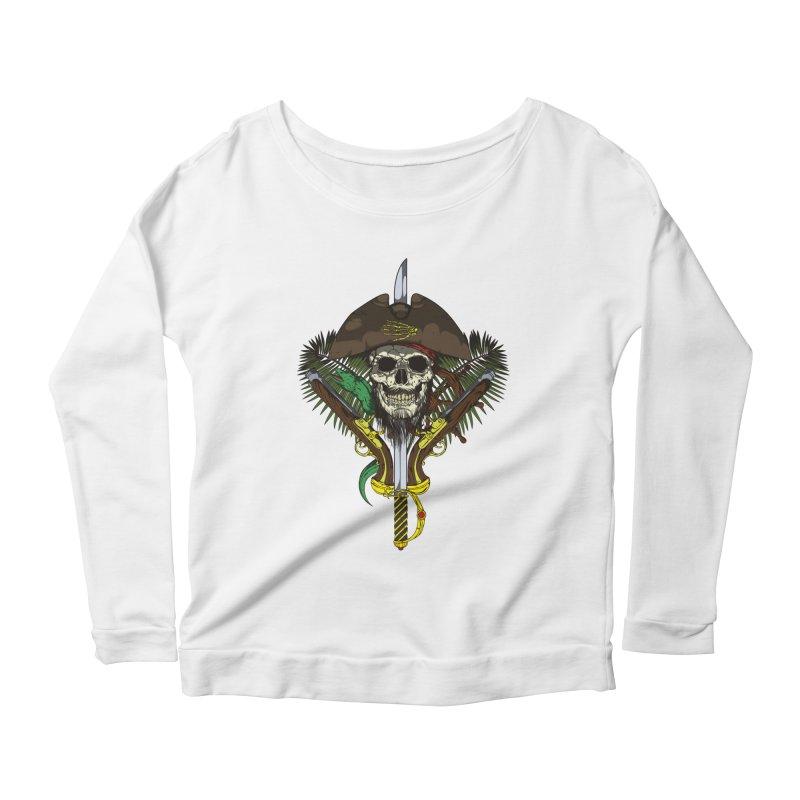 Pirate skull Women's Longsleeve Scoopneck  by juliusllopis's Artist Shop