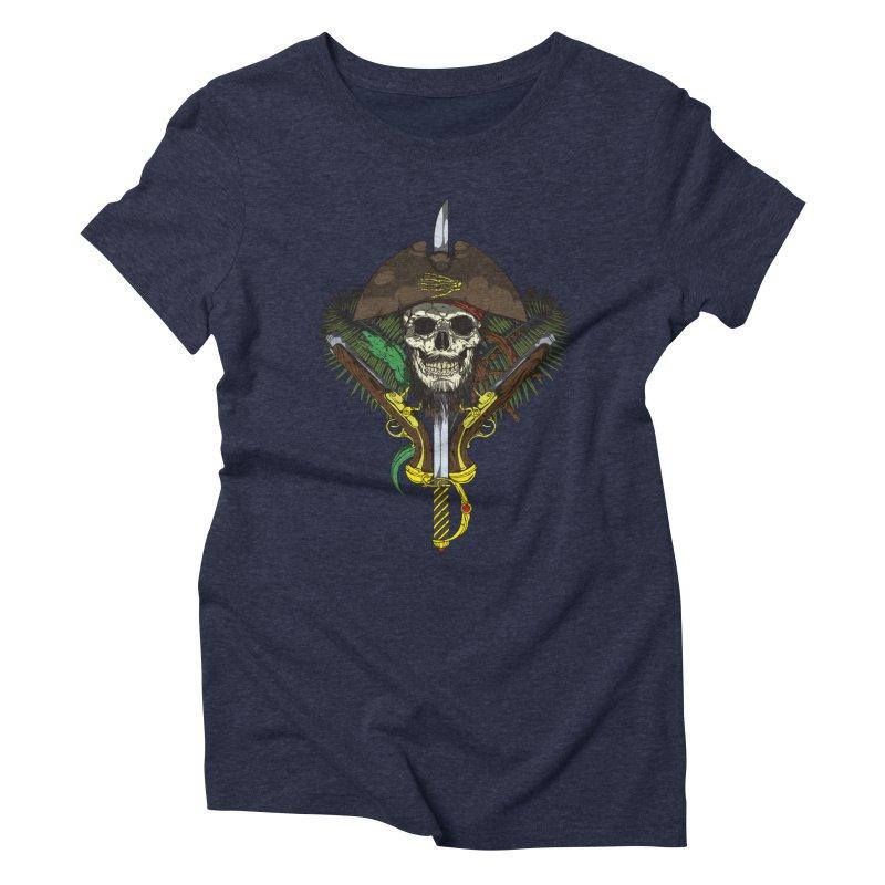 Pirate skull Women's Triblend T-shirt by juliusllopis's Artist Shop