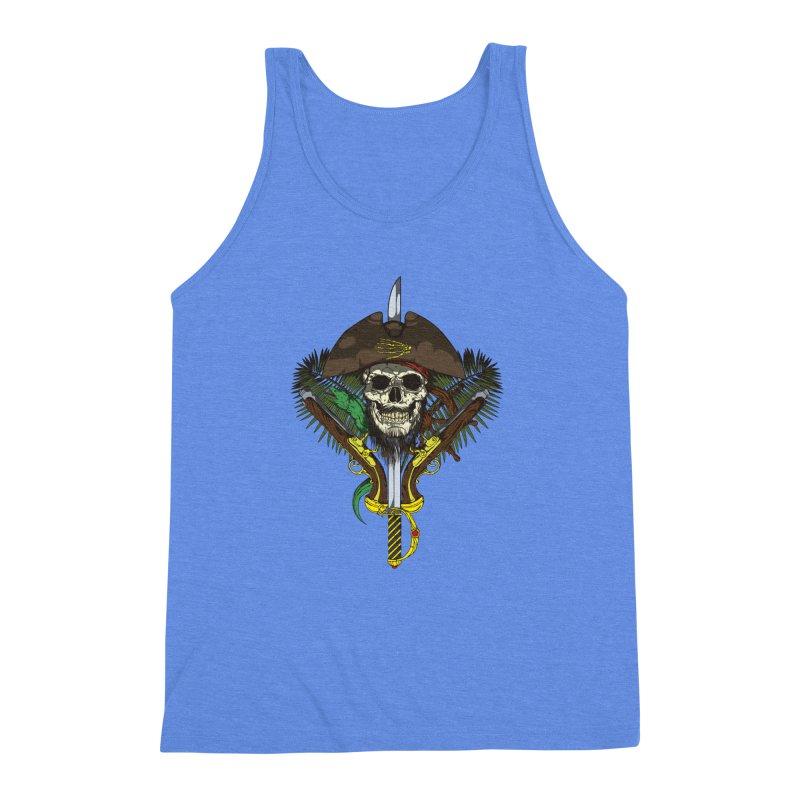 Pirate skull Men's Triblend Tank by juliusllopis's Artist Shop