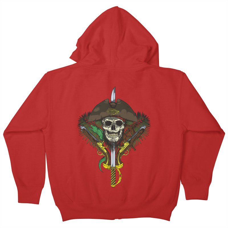 Pirate skull Kids Zip-Up Hoody by juliusllopis's Artist Shop