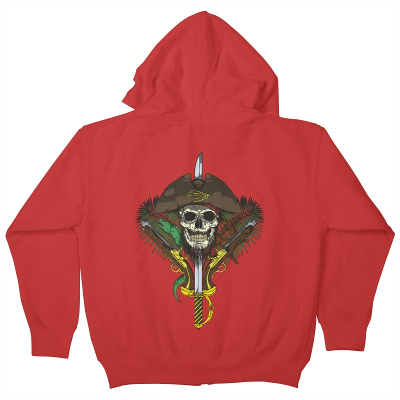 Pirate skull Kids Zip-Up Hoody by juliusllopis's Artist Shop