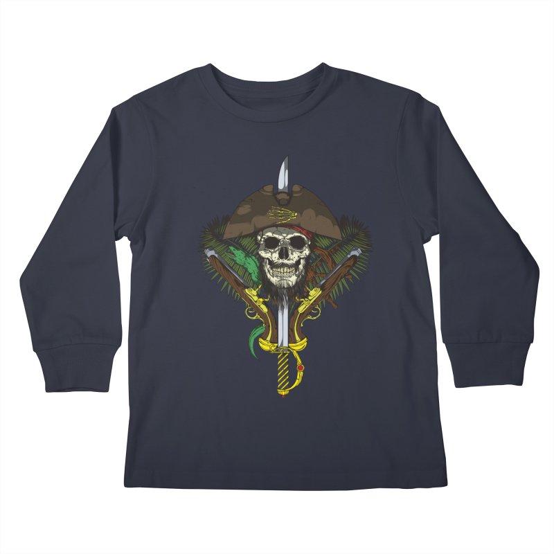 Pirate skull Kids Longsleeve T-Shirt by juliusllopis's Artist Shop
