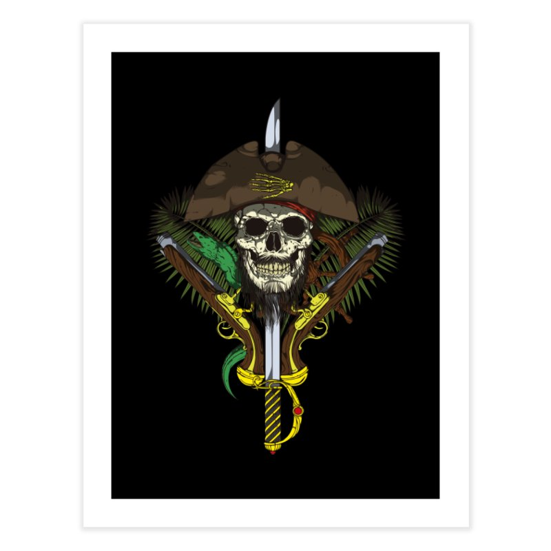 Pirate skull Home Fine Art Print by juliusllopis's Artist Shop