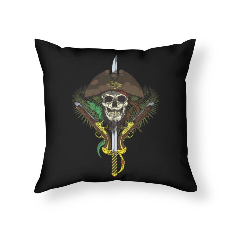 Pirate skull Home Throw Pillow by juliusllopis's Artist Shop