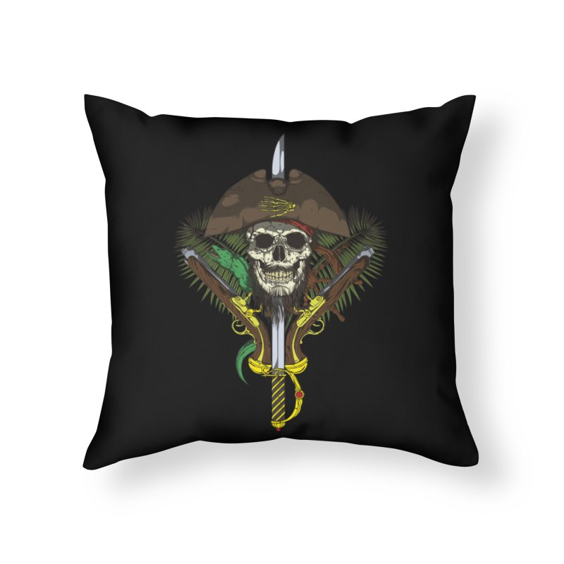 Pirate skull Home Throw Pillow by juliusllopis's Artist Shop
