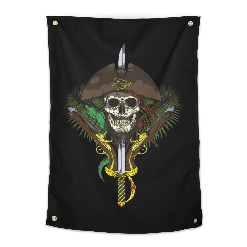 Pirate skull Home Tapestry by juliusllopis's Artist Shop