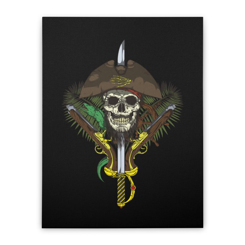 Pirate skull Home Stretched Canvas by juliusllopis's Artist Shop