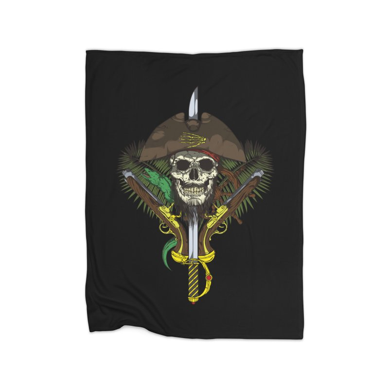 Pirate skull Home Fleece Blanket Blanket by juliusllopis's Artist Shop