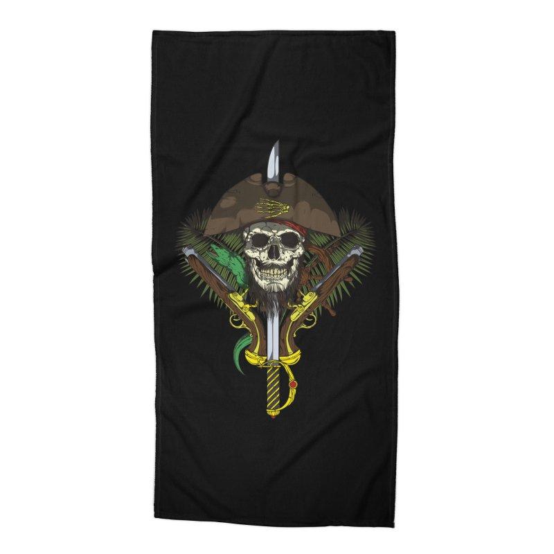 Pirate skull Accessories Beach Towel by juliusllopis's Artist Shop