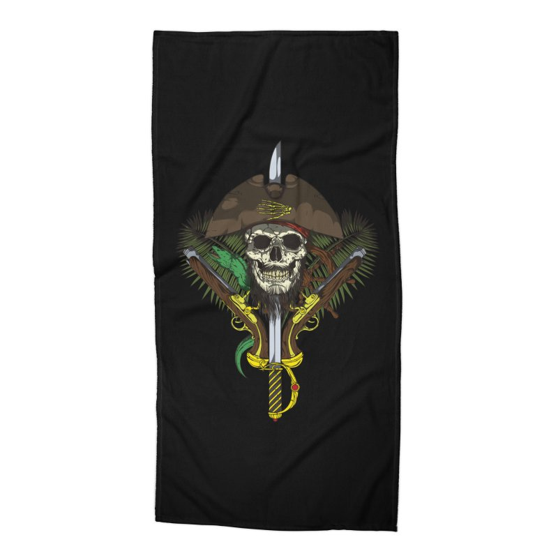 Pirate skull Accessories Beach Towel by juliusllopis's Artist Shop