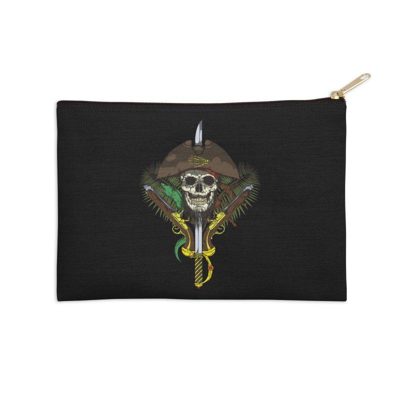 Pirate skull Accessories Zip Pouch by juliusllopis's Artist Shop
