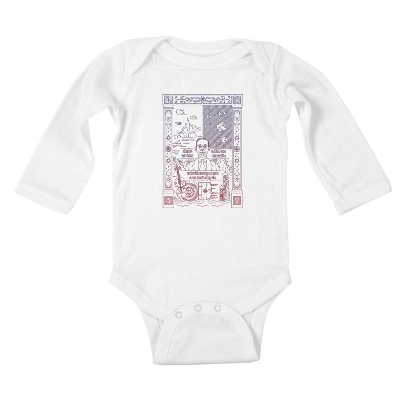 Lovecraft Kids Baby Longsleeve Bodysuit by juliusllopis's Artist Shop