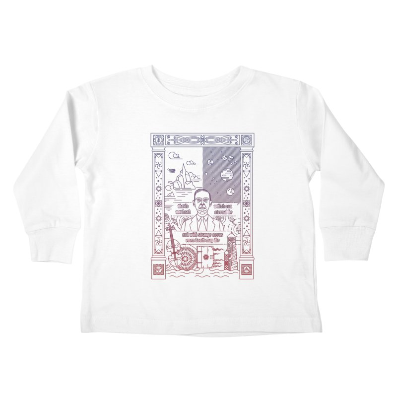 Lovecraft Kids Toddler Longsleeve T-Shirt by juliusllopis's Artist Shop