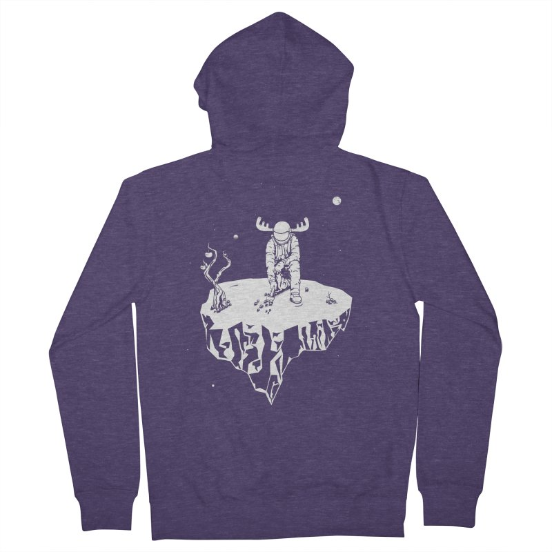 Astro moose Men's Zip-Up Hoody by juliusllopis's Artist Shop