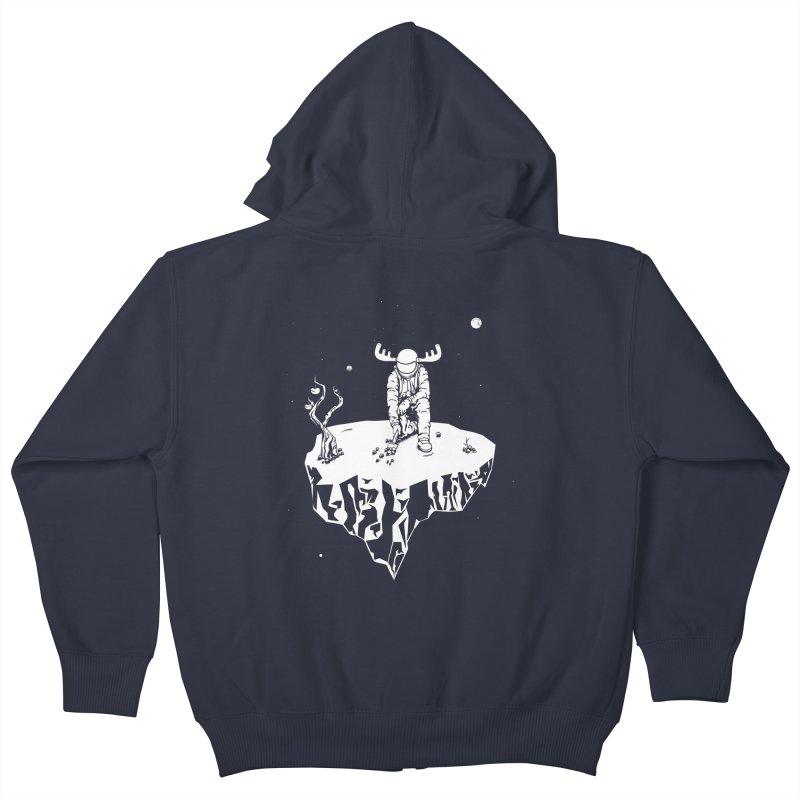 Astro moose Kids Zip-Up Hoody by juliusllopis's Artist Shop