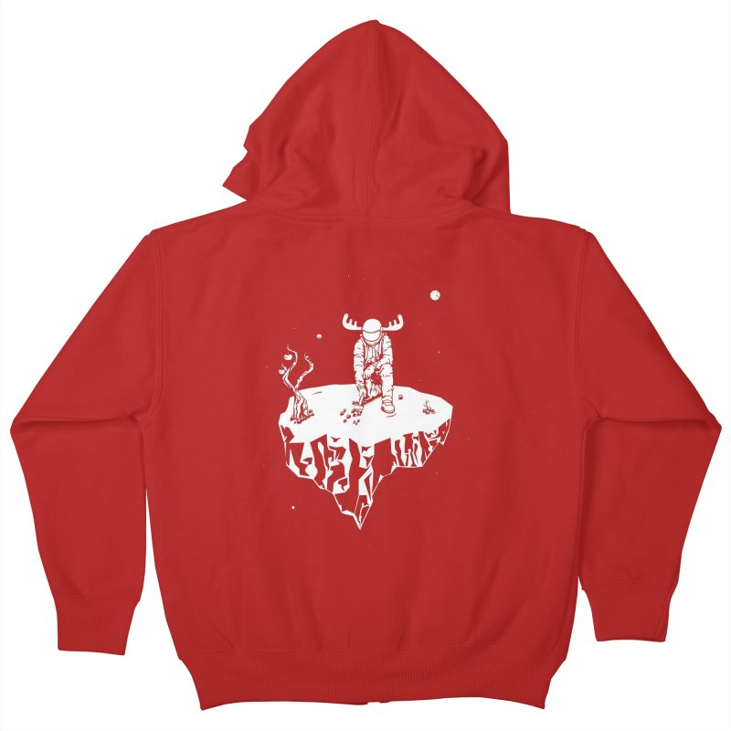 Astro moose Kids Zip-Up Hoody by juliusllopis's Artist Shop