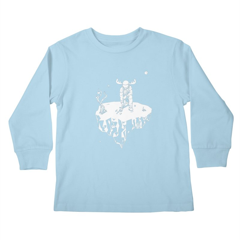 Astro moose Kids Longsleeve T-Shirt by juliusllopis's Artist Shop