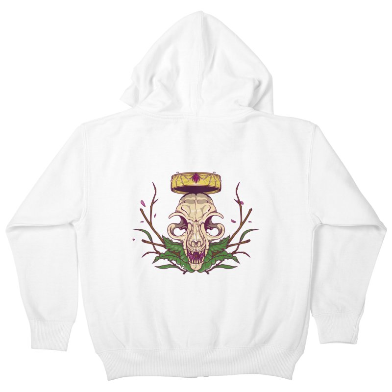 King bat Kids Zip-Up Hoody by juliusllopis's Artist Shop