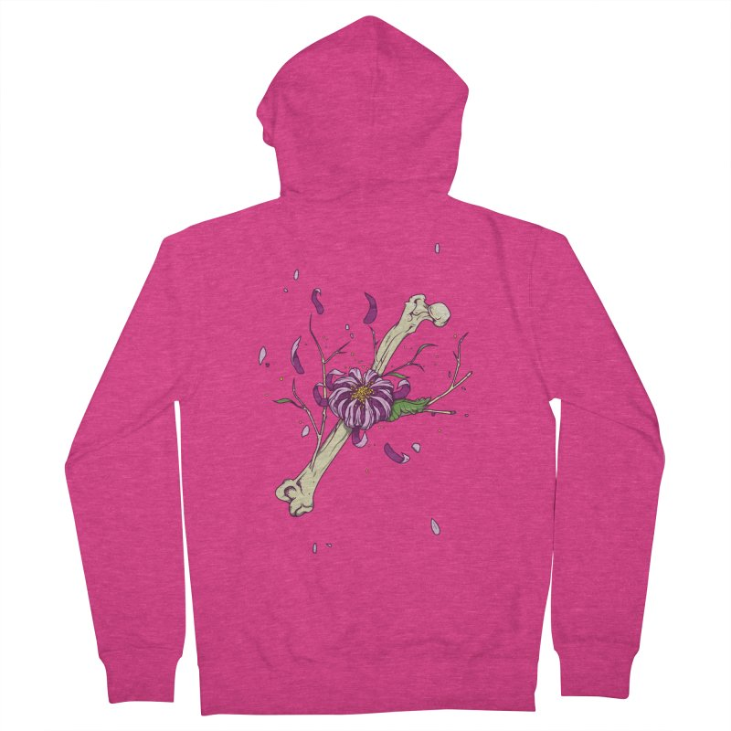 Flower bone Women's French Terry Zip-Up Hoody by juliusllopis's Artist Shop