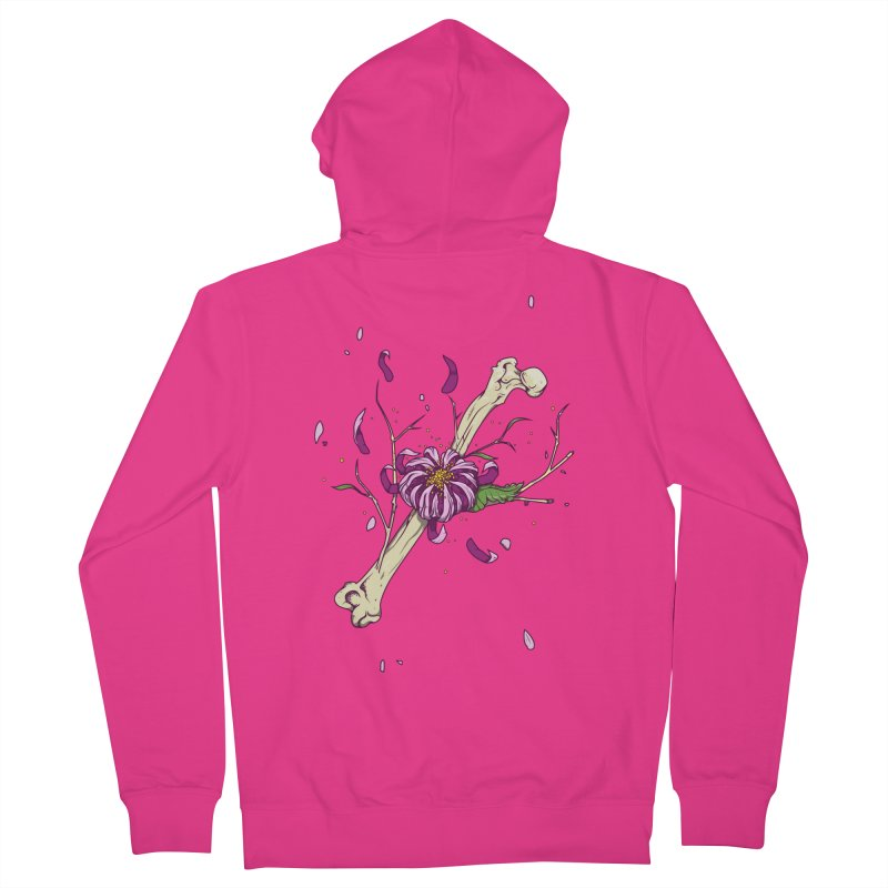 Flower bone Men's Zip-Up Hoody by juliusllopis's Artist Shop