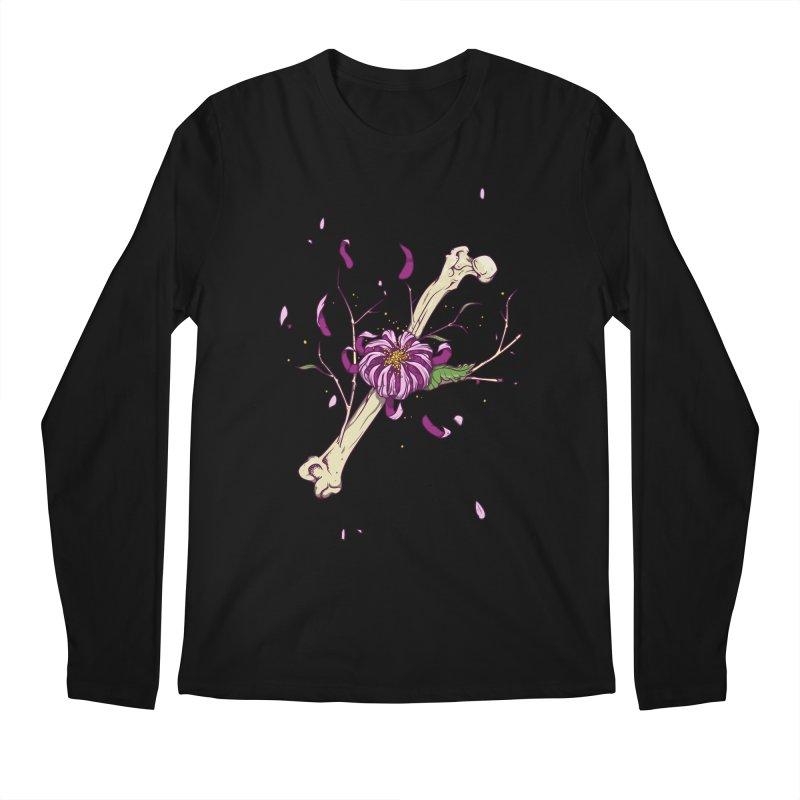 Flower bone Men's Regular Longsleeve T-Shirt by juliusllopis's Artist Shop