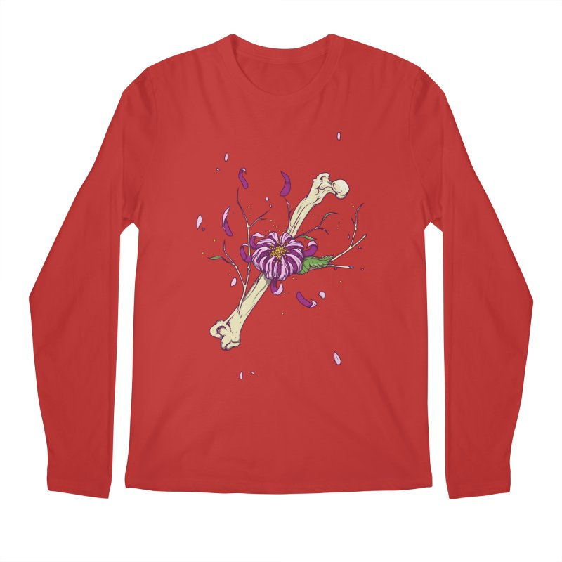 Flower bone Men's Regular Longsleeve T-Shirt by juliusllopis's Artist Shop